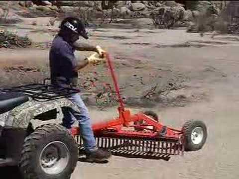 - ATV Television Product Review - York Tow-Behind Rake - YouTube