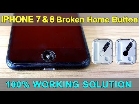 IPhone 7 And 8 Broken Home Button Easy And Quick Fix (100% WORKING SOLUTION)