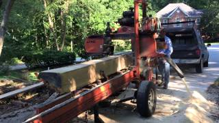 Lt40hd Portable Saw Mill In Action