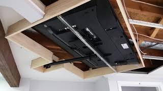 Ultimate Home Theater Ceiling Mounted TV DIY