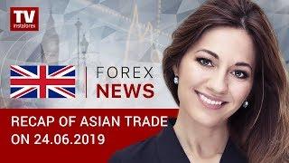 InstaForex tv news: 24.06.2019: US dollar bears setting tone (USDX, JPY, AUD)
