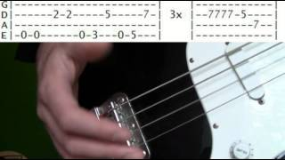 Bass Guitar Lesson Red Hot Chili Peppers Higher Ground Tabs