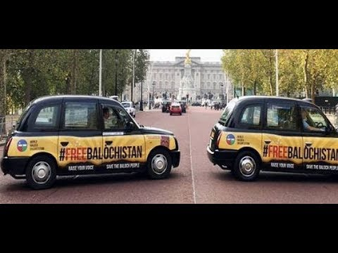 FreeBalochistan human rights campaign on Black Cabs and Taxis in the United Kingdom