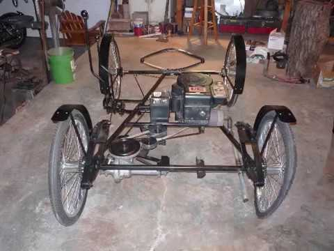 Building my horseless carriage slide show youtube for How to build a carriage