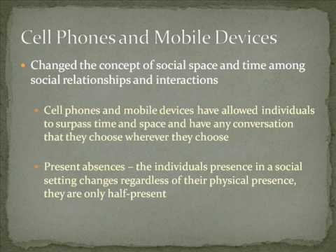Cell phones effect on society