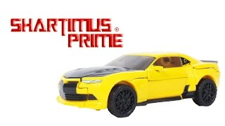 Transformers The Last Knight Bumblebee Premier Edition Hasbro Deluxe Class Action Figure Toy Review