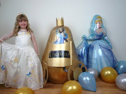 Disney Cinderella Movie Videos Super Giant Egg Surprise The Worlds Biggest EVER Play Doh Kinder Eggs