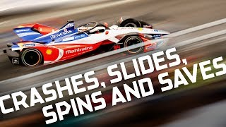 Best Crashes, Spins, Slides and Saves! | 2018 SAUDIA Ad Diriyah E-Prix