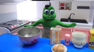 BABIES SUPERHEROES COOKING TIME - Clay Stop Motion Kids Cartoon Play Doh