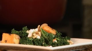 Kale Recipes - How To Make Roasted Yam And Kale Salad