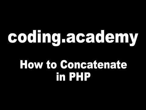 How To Concatenate Sentences In PHP