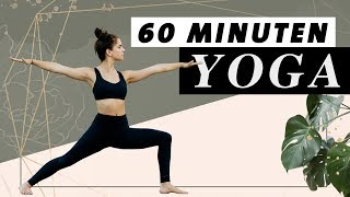 Yoga Flow 60 Minuten   Ganzkörper Programm   Selbstbewusstsein und innere Stärke