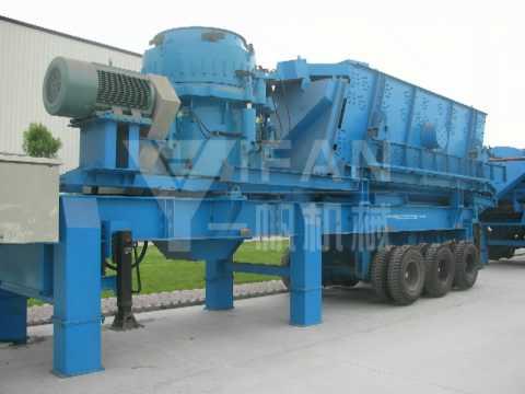 Mobile Concrete Crusher,YIFAN Mobile Recycling Equipment