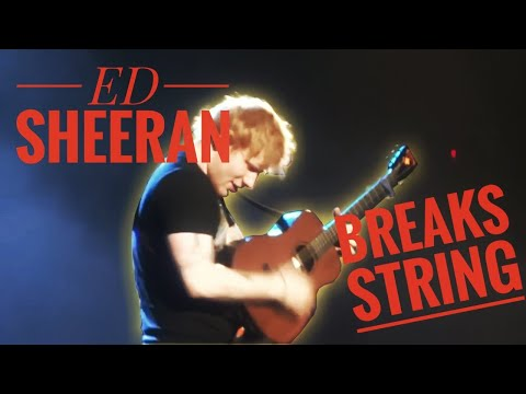 Thumbnail: Ed Sheeran breaks guitar string while playing You Need Me I Don't Need You Live