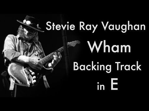 Stevie Ray Vaughan - 'Wham' Backing Track (12 Bar Blues in E major) mp3