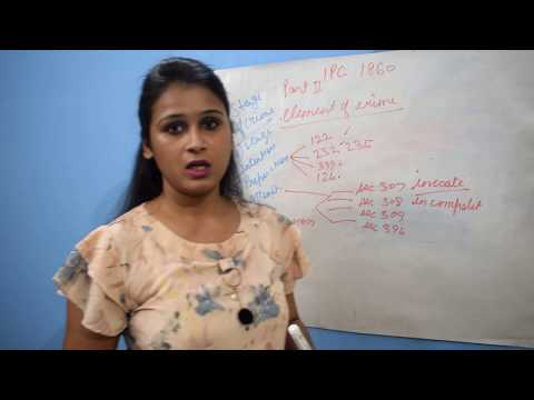 IPC : Elements of crime Introduction