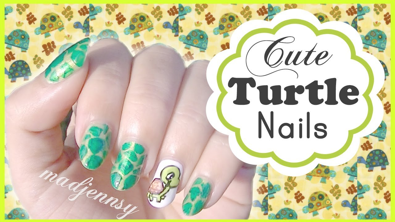 Cute Turtle Nail Art Tutorial - Cute Turtle Nail Art Tutorial - YouTube