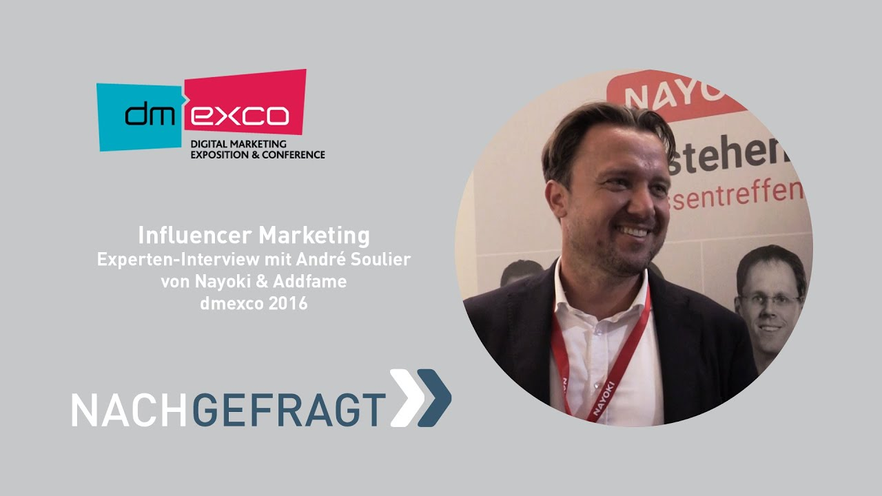 influencer marketing interview mit andr eacute soulier dmexco  influencer marketing interview mit andreacute soulier dmexco 2016 fairrank tv nachgefragt