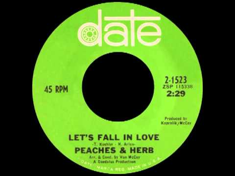 LET'S FALL IN LOVE, Peaches & Herb, Date # 1523   1967