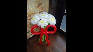 Как сделать бант из шара,бант к букету из шаров/the bow ball