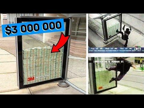 وضعوا 3 ملايين دولار في الشارع وقالوا لهم من استطاع كسر هذا الزجاج سياخذ كل هذا المال, شاهد ماذا حدث