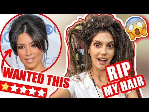 KIM KARDASHIAN LOOK ✂️I WENT TO THE WORST REVIEWED HAIR SALON IN MY CITY NYC 😭