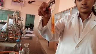 Brown ring  test for nitrate ion in laboratory