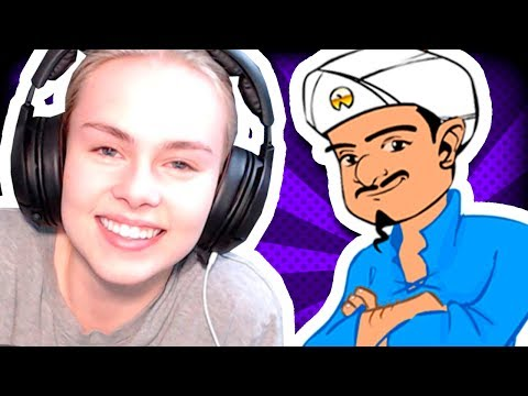 Thumbnail: IT READS MINDS?! - GIRLFRIEND TRIES AKINATOR FOR THE FIRST TIME!!
