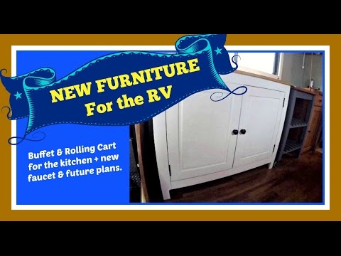 New Furniture in the RV:  Buffet & Rolling Cart from IKEA