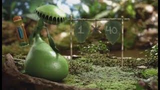 Female plant eats frog (ads)