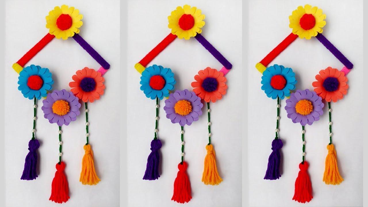Diy Ice Cream Stick Crafts Diy Wall Hanging Wall Hanging Ideas