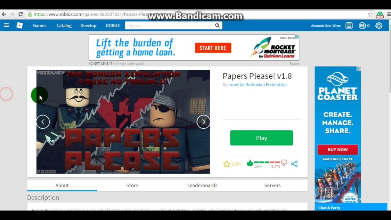 Showing you how to get a passport in Roblox `Papers Please