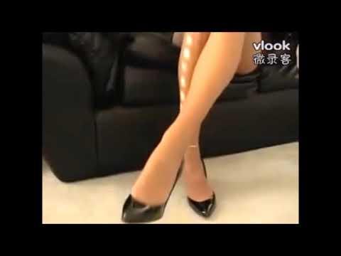 Yan PanPan  Stroking The Legs, 闫盼盼愛撫腿