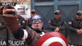 احتفالات في شوارع البيرو بـ