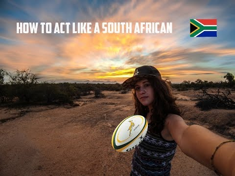 BE SOUTH AFRICAN - exchange student in S.A.