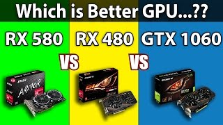 RX 580 VS RX 480 VS GTX 1060 | 1080p and 1440p Comparison | DX11 and DX12 Comparison
