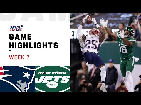 Patriots vs. Jets Week 7 Highlights | NFL 2019