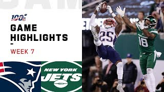 Patriots Vs. Jets Week 7 Highlights  NFL 2019