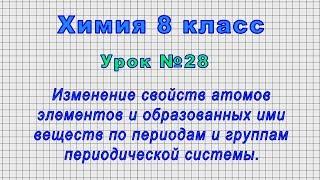 Химия 8 класс (Урок№28 - Изменение свойств атомов элементов и веществ по периодам и группам.)