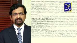 Letter to the Honorable Prime Minister of India from NTV chairman and MD Sri.Mathukutty Kadone
