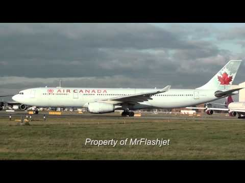 HEATHROW PLANE SPOTTING The Epic Air Canada SPECIAL! Flight Arrivals Departures Guide