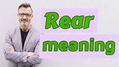 Rear | Meaning of rear