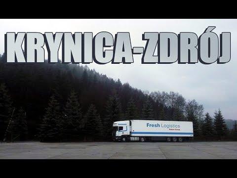 Przejazd tirem przez Krynicę-Zdrój