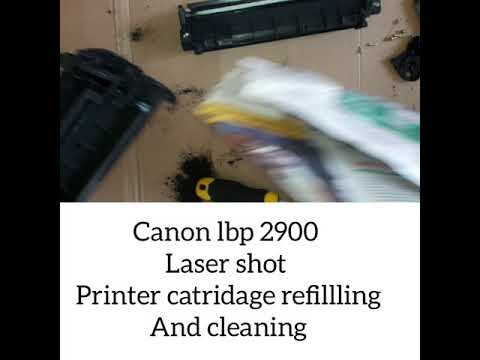 How to refill canon lbp 2900 printer catridge