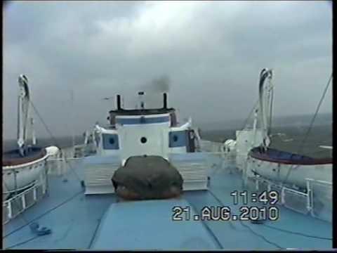 видео: Теплоход Булгария.  Шторм 21.08.2010