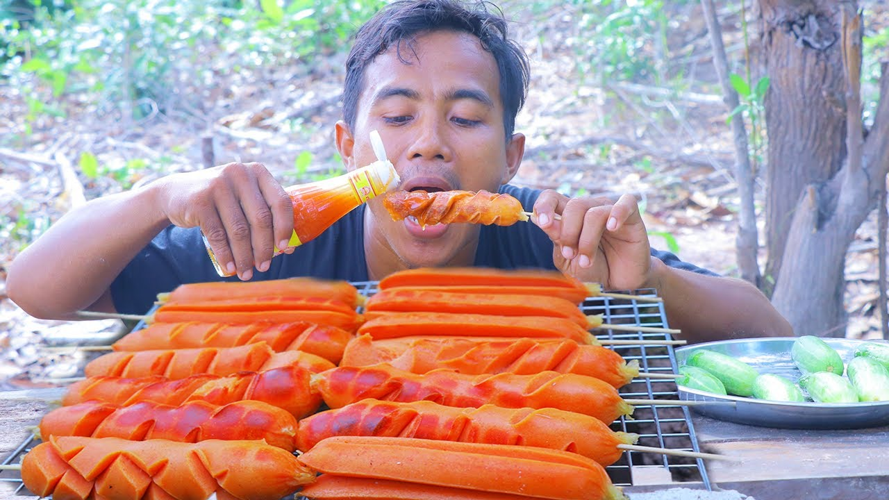 Cooking Techniques: Roasted Hot Dog recipe the delicious