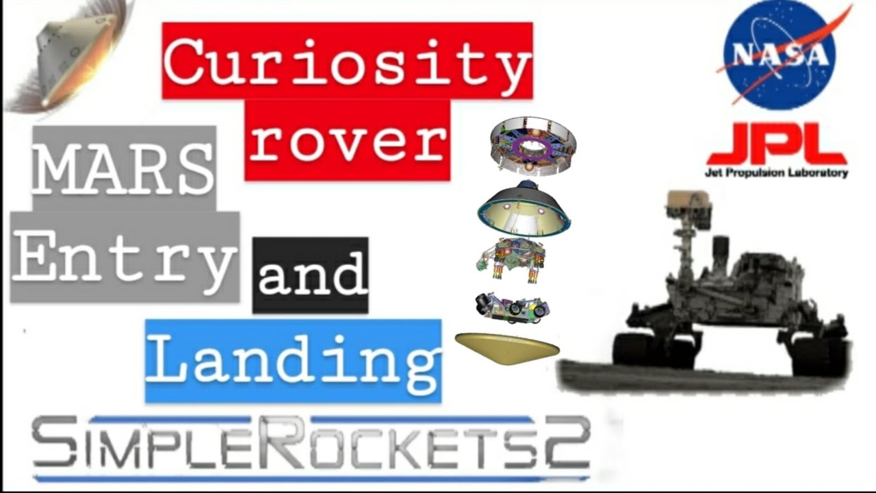 Curiosity rover | Mars entry and touch down | NASA | JPL | Simple rockets 2