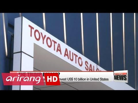 Toyota Motor reveals plan to invest $10 billion in U.S. days after Trump's tweet