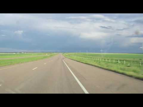 Time lapse drive from Glacier Park to Great Falls, Montana