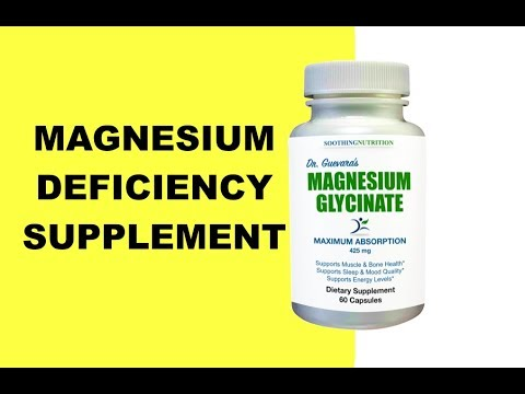 Magnesium Deficiency Symptoms & Best Magnesium Supplement To Take